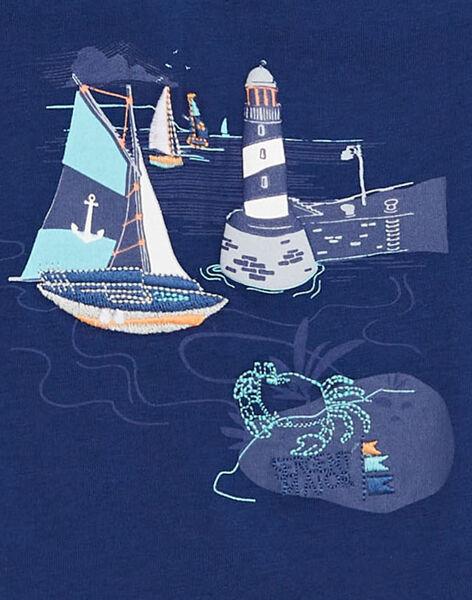 Tee Shirt Manches Courtes Bleu TYFIMAGE / 20E3PG31TMCC232
