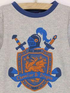 Sweat shirt gris chiné RACHAGE / 19E3PG42SWE943