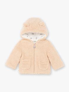 Veste marron à capuche bébé garçon BIMARCEL / 21H1BGC1VESI819