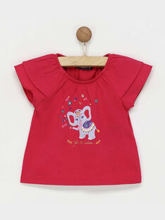 Tee Shirt Manches courtes fuchsia RAREBECA / 19E1BFM1TMC304