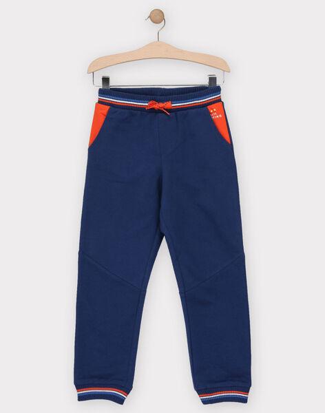 Bas de jogging bleu marine garçon  TUJOAGE 1 / 20E3PG91JGB622