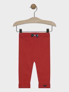 Pantalon en tricot orange bébé fille SALIVIA / 19H1BFC1PANE406
