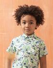 Chemise manches courtes verte imprimé feuillage enfant garçon TUSAGE / 20E3PGX1CHM001