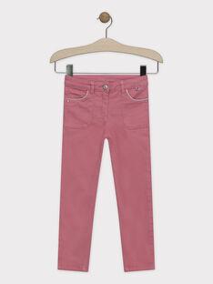 Pantalon slim rose fille SYTOMETTE / 19H2PFE1PAN307