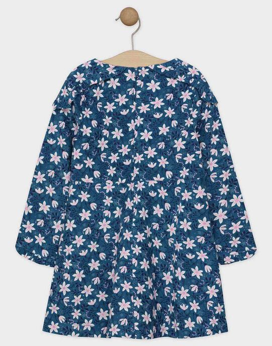 Robe doublée en velours imprimée fille SUIZETTE / 19H2PFN1ROB715