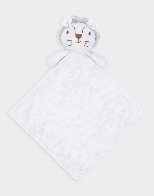 Doudou carré en fausse fourrure bébé garçon SYALBAN / 19H0AG11JOU943