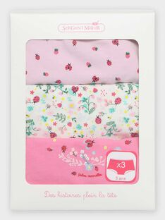 Lot de 3 shorties petite fille  TEKERETTE / 20E5PF61SHYD318