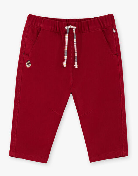 Pantalon rouge bordeaux bébé garçon BAFAEL / 21H1BG52PAN503