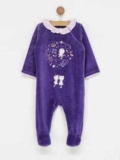 Grenouillère violette PIA / 18H5BF51GRE708