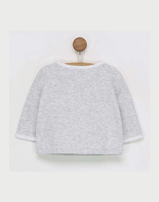 Tee shirt manches longues gris chiné RYALAIA / 19E0NM11TML943