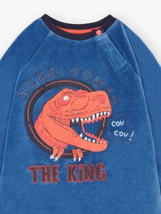 Pyjama bleu motif dinosaure enfant garçon BEDINAGE / 21H5PG65PYJ208