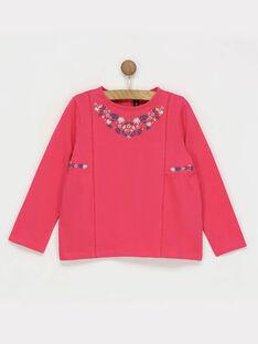 Tee shirt manches longues rose RADITETTE / 19E2PF62TMLD301
