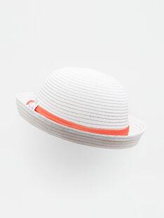 Chapeau de paille écru bébé fille TATIKA / 20E4BFW1CHA001
