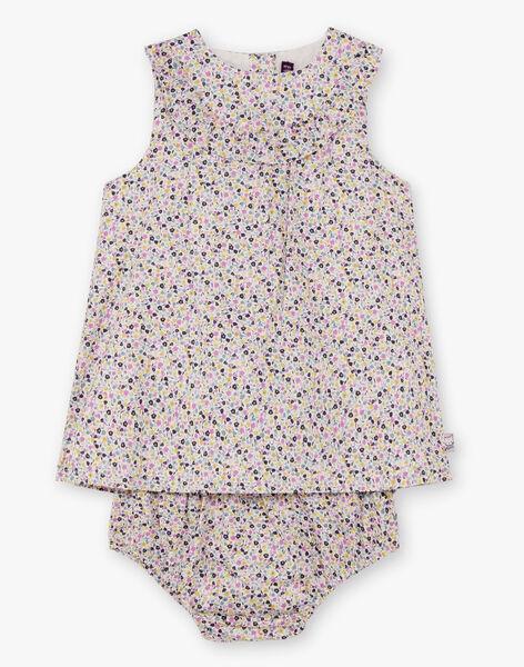 Robe sans manches imprimé fleuri et bloomer bébé fille BACHRISTIE / 21H1BF21ROB001