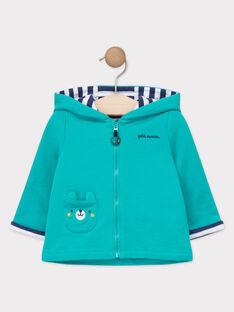 Veste de jogging bébé garçon bleu turquoise  TAEUDE / 20E1BGD1JGH209