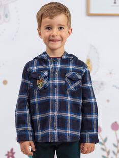 Surchemise à capuche motif carreaux enfant garçon  BEXAGE / 21H3PG91SCH715