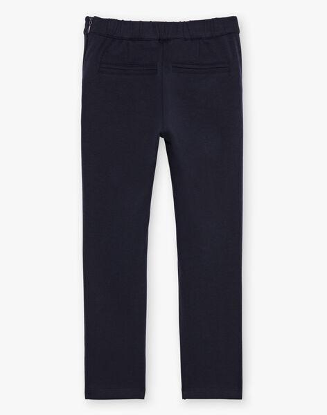 Pantalon à pinces bleu marine enfant fille BEMILETTE2 / 21H2PF51PAN070