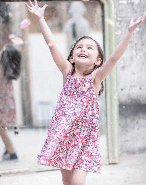 Robe à bretelles rose imprimé fleuri enfant fille ZROBETTE 2 / 21E2PFW2RBS001