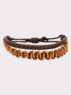 Bracelet marron et orange RUBRACELAGE / 19E4PGQ1ACD802