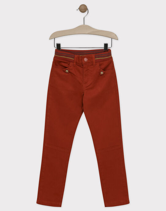 Pantalon orange avec ceinture élastiquée garçon SAVRAGE / 19H3PGC3PAN409