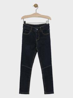 Jeans en denim foncé garçon SEBINAGE / 19H3PGI1JEAP269