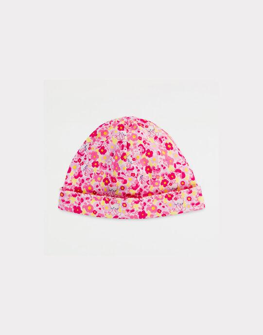 Bonnet de Naissance Rose NAAGLAE / 18E0AF41BNA305