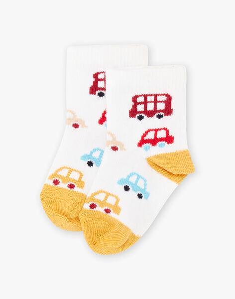 Chaussettes bicolores motif Londres bébé garçon BAFABIEN / 21H4BG52SOQ001
