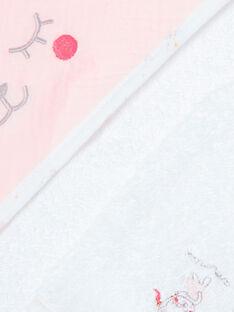 Pointe éponge blanche et gant bébé fille ZOHOUR / 21E0AFG1POI000