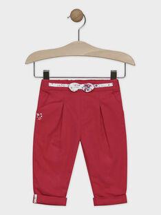 Pantalon framboise bébé fille SANADINE / 19H1BFE1PAN308