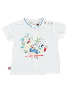 Tee shirt manches courtes blanc RAPABLO / 19E1BGH1TMC000