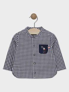 Chemise en toile de coton à petits carreaux bébé garçon  SAMILES / 19H1BGC1CHM705