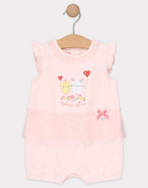 Grenouillère rose bébé fille TEROMANE / 20E5BFE4GRE301