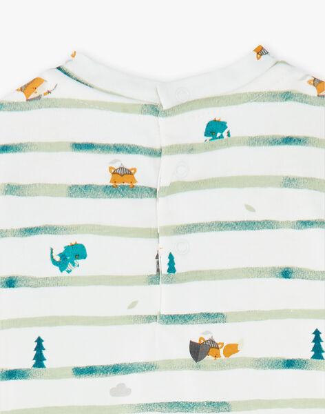 Body t-shirt à rayures imprimées  VALIAM / 20H1BGR1BOD001