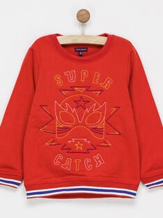 Sweat shirt rouge NIBESTAGE / 18E3PGI1SWE511