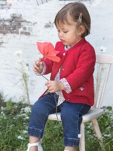 Jean bleu moyen bébé fille BAANGELE / 21H1BF11PANP270