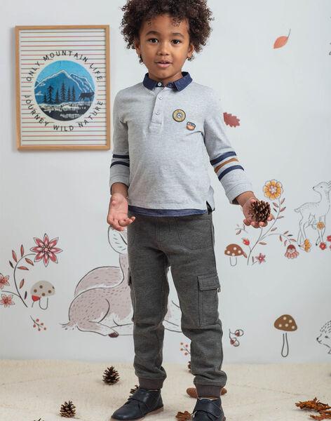 Jogging gris chiné enfant garçon BIGLAGE / 21H3PGJ3PAN944
