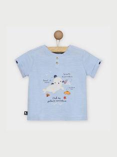 Tee shirt bleu à motifs RAUGUES / 19E1BGP1BOD000