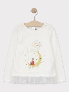 Tee-shirt Noël manches longues animation fille SEUDAETTE / 19H2PFP2TML001