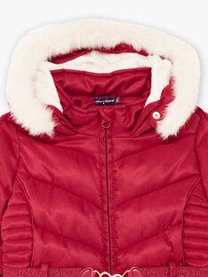 Doudoune réversible rouge imprimé fantaisie bébé fille BLODODETTE1 / 21H2PFD2D3ED302