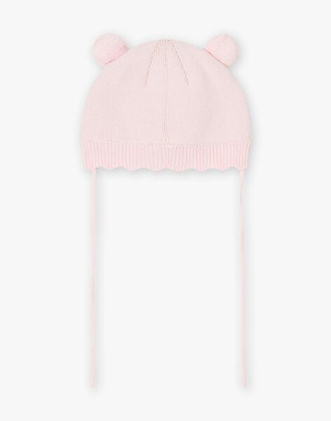 Bonnet animal rose clair bébé fille BIPRUNELLE / 21H4BFD2BON321