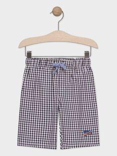 Pyjama short gris imprimé voiture enfant garçon TEVOYAGE / 20E5PGE4PYJJ920