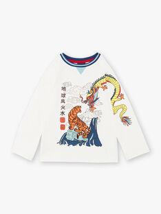T-shirt blanc manches longues ZAGERAGE / 21E3PGI1TML001