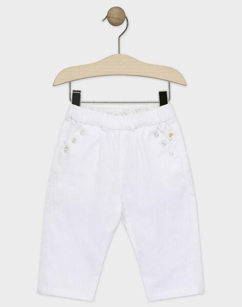Pantalon à bretelles blanc  TYDREW / 20E1BG21PAN001