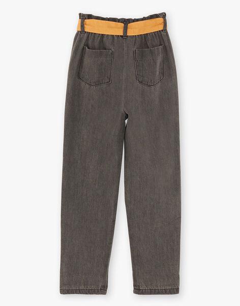 Pantalon denim gris ceinture foulard ZEDENETTE / 21E2PF91JEAJ912