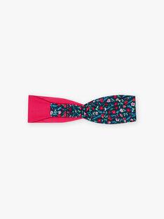 Bandeau rose et bleu à imprimé fleuri enfant fille BUBELETTE / 21H4PFS9TET310