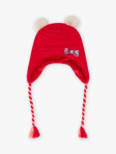 Bonnet maille rouge enfant fille BLOZANETTE / 21H4PFE2BON308