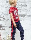 Jogging bleu nuit et rouge enfant garçon BADONAGE / 21H3PG13PAN720