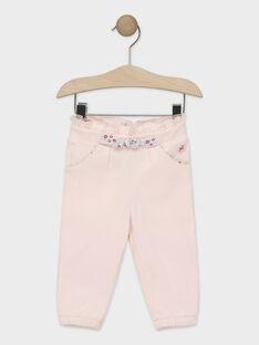 Pantalon de jogging rose pâle bébé fille TADEA / 20E1BFC1JGB301