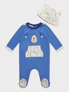 Grenouillère bleue bébé garçon  TEPAPA / 20E5BG72GREC237