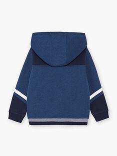 Haut de jogging bleu à capuche enfant garçon BAPAGE1 / 21H3PG34JGHC212